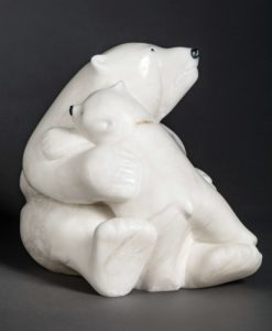 manasie akpaliapik-Polar Bear and Cub