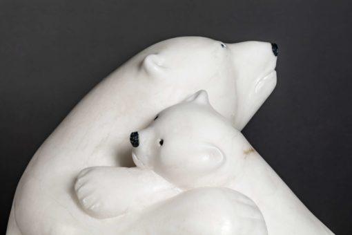 manasie akpaliapik-Polar Bear and Cub