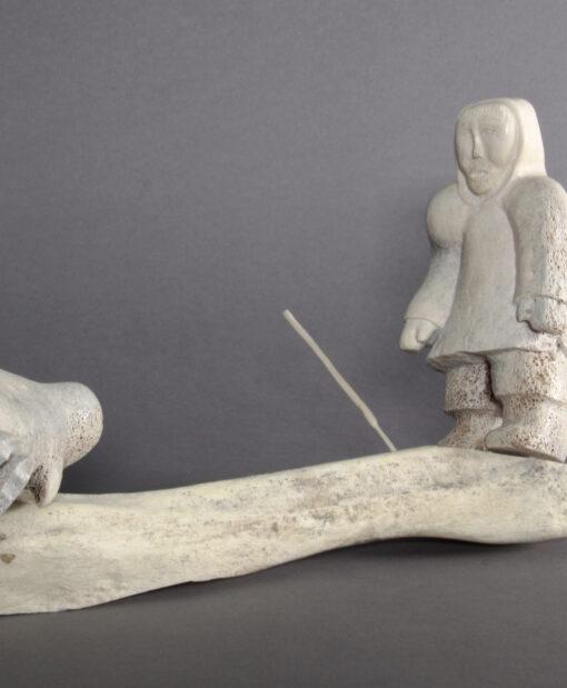 Alina Tungilik-Man Hunting Seal