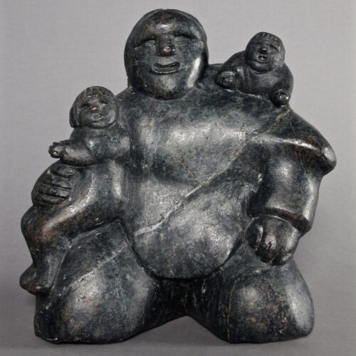 Mother with 2 children by Martha Tickie
