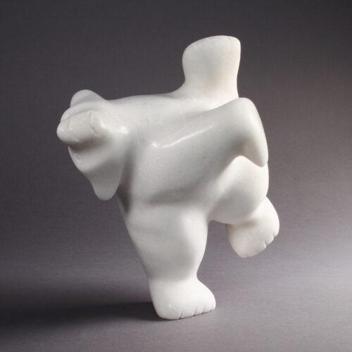 Ours dansant en marbre